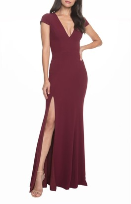 Dress the Population Karla V-Neck Trumpet Gown
