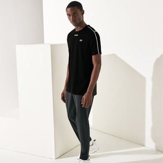 Lacoste Men's SPORT Piped-Seam Cotton T-Shirt