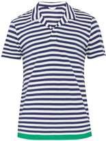 Orlebar Brown Felix contrast-hem cotton-blend polo shirt