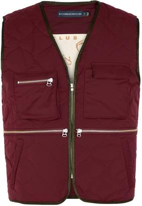 Billionaire Boys Club Burgundy Quilted Shell Gilet