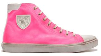 Saint Laurent Bedford Distressed High-top Trainers - Mens - Pink