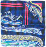 Etro printed scarf - men - Silk/Linen/Flax - One Size