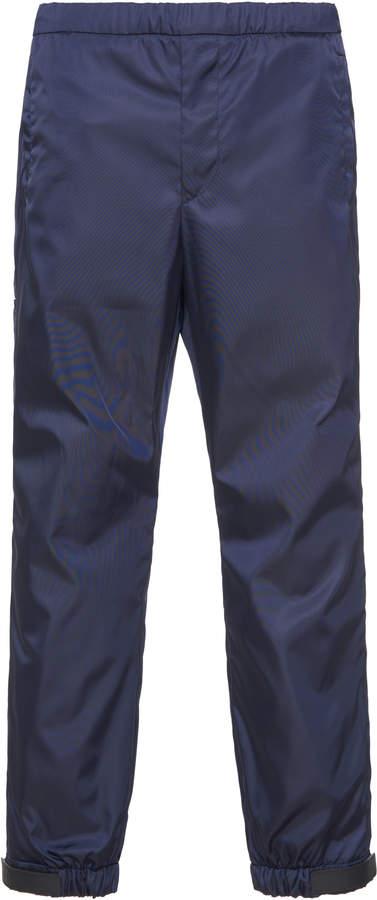 Prada Nylon Slim-Leg Pants