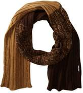 Muk Luks Men's Color Block Cable Basic Scarf