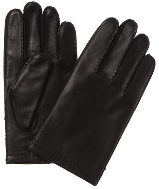 Hickey Freeman Hickey Freemen Hand-Stitched Cashmere-Lined Classic Leather Glove