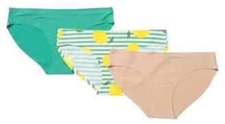 AQS Assorted Seamless Bikini Panties - Pack of 3