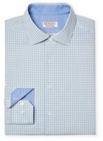 Merona Men's Checkered Long Sleeve Button Down French Placket Dress Shirt