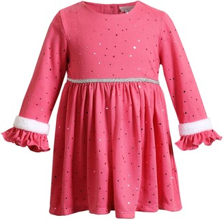 Youngland Baby Girl Knit Ruffled Dress