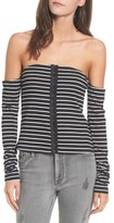 Mimichica Women's Mimi Chica Stripe Off The Shoulder Top