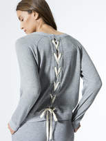 Monrow Sweatshirt w/ Lace up Back