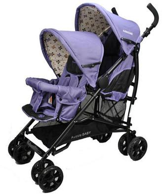 Aussie Baby Vitesse Deux Tandem Stroller - Purple