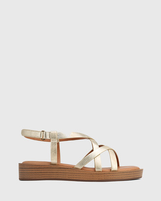 Wittner - Women's Silver Sandals - Etienne Leather Cross Strap Sandals - Size One Size, 37 at The Iconic