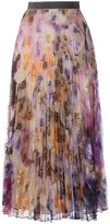 Christopher Kane pleated pansy lace skirt - women - Silk/Lurex/Nylon/rubber - 40