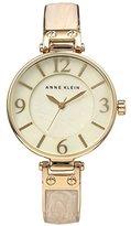 Anne Klein Women's AK/2210IMGB Gold-Tone and Ivory Marbleized Bangle Watch