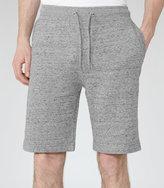 Reiss Reiss Gull - Flecked Drawstring Shorts In Grey