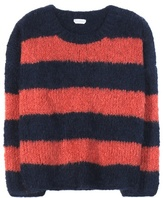 Chloé Striped Mohair, Virgin Wool And Cashmere Sweater