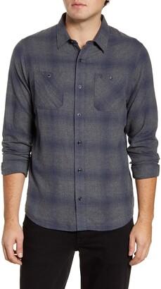 Travis Mathew TravisMathew Keep On Regular Fit Plaid Flannel Button-Up Shirt