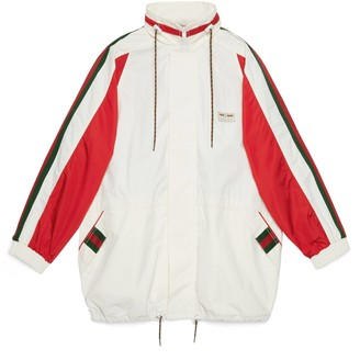 Gucci Cotton canvas jacket with label