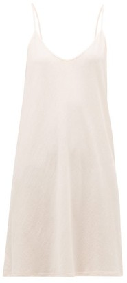 Skin - Pima Cotton Jersey Slip Dress - Womens - Light Pink