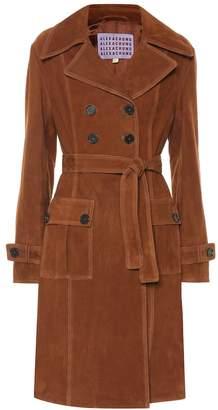 ALEXACHUNG Suede coat