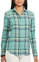 Chaps Petite Plaid Twill Shirt