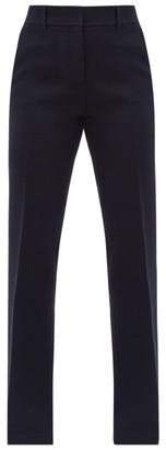 Gabriela Hearst Starr Flared Wool Trousers - Navy