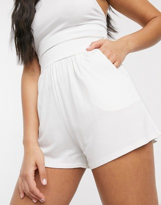 In The Style lounge shorts in white