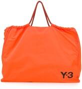 Y-3 Y 3 oversized logo print tote bag