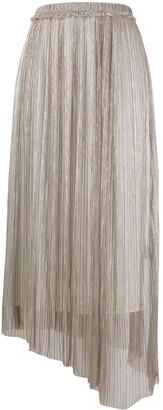 Etoile Isabel Marant Dolmenae metallic pleated skirt