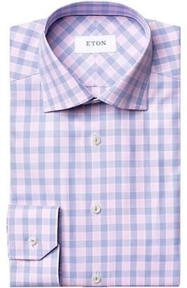 Eton Slim-Fit Plaid Cotton Shirt