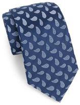 Saks Fifth Avenue Boxed Paisley Teardrop Silk Tie