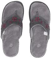 Acorn Flora Suede Spa Thong (Ash Flora) Women's Sandals