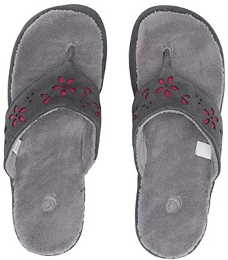 Acorn Flora Suede Spa Thong (Ash Flora) Women's Sandals