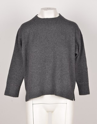 Bruno Manetti Anthracite Wool & Cashmere Blend Women's Sweater