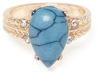 Forever New Celine Semi Precious Ring - Turquoise - m l