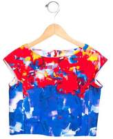 Milly Minis Girls' Abstract Print Crop Top