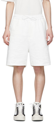 Y-3 White Classic Terry Shorts