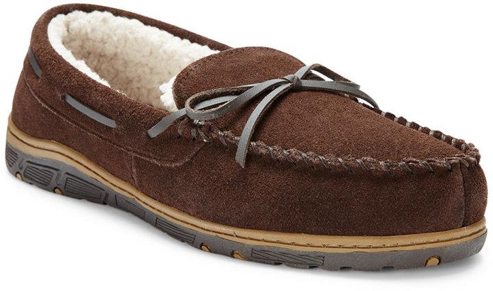Rockport Men's Faux Fur Lined Moccasin Slippers