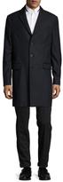 The Kooples Wool Striped Top Coat