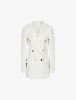 Reiss Austen double-breasted woven blazer