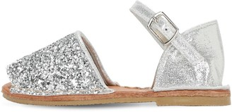 Colors of California Glittered Leather Sandals