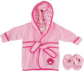 Triboro Quilt Mfg Co Babies R Us Princess Robe - Pink with Hot Pink Piping and Booties