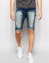 Loyalty And Faith Spray On Denim Short Distressing Tint Wash Jean