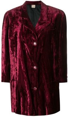 Krizia Pre-Owned 1970's Velvety Coat