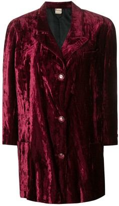 Krizia Pre Owned 1970's velvety coat