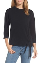 Halogen Petite Women's Side Tie Wool And Cashmere Sweater