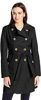 Anne Klein Women's Classic Double-breasted Trench Coat