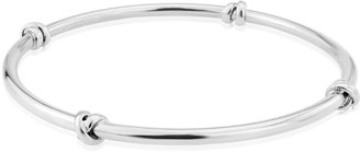 Auree Jewellery Burnsall Sterling Silver Knot Bangle