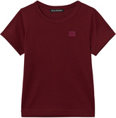 Acne Studios Burgundy Mini Nash Face Tee