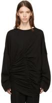 Yohji Yamamoto Black Cross Drawstring T-Shirt